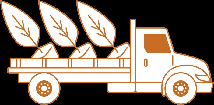 Delivery Service White Icon